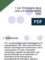 Tema 1 Las Tecnologías de la Información y la Comunicación