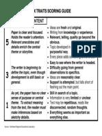 6 Six Traits Scoring Guide--OVH