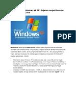 Aktivasi Window XP SP3