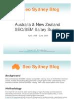 2009 Australia & New Zealand SEO-SEM Salary Survey