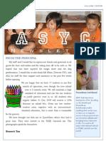 ASYC Newsletter Vol 1 (EL)