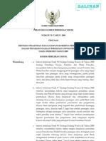 Peraturan_kpu_no.50_tahun2009 (Pedoman Pelaporan Dana Kampanye Peserta Pemilu Dlm Penyelenggaraan Pemilu Pres & Wapres 2009 )