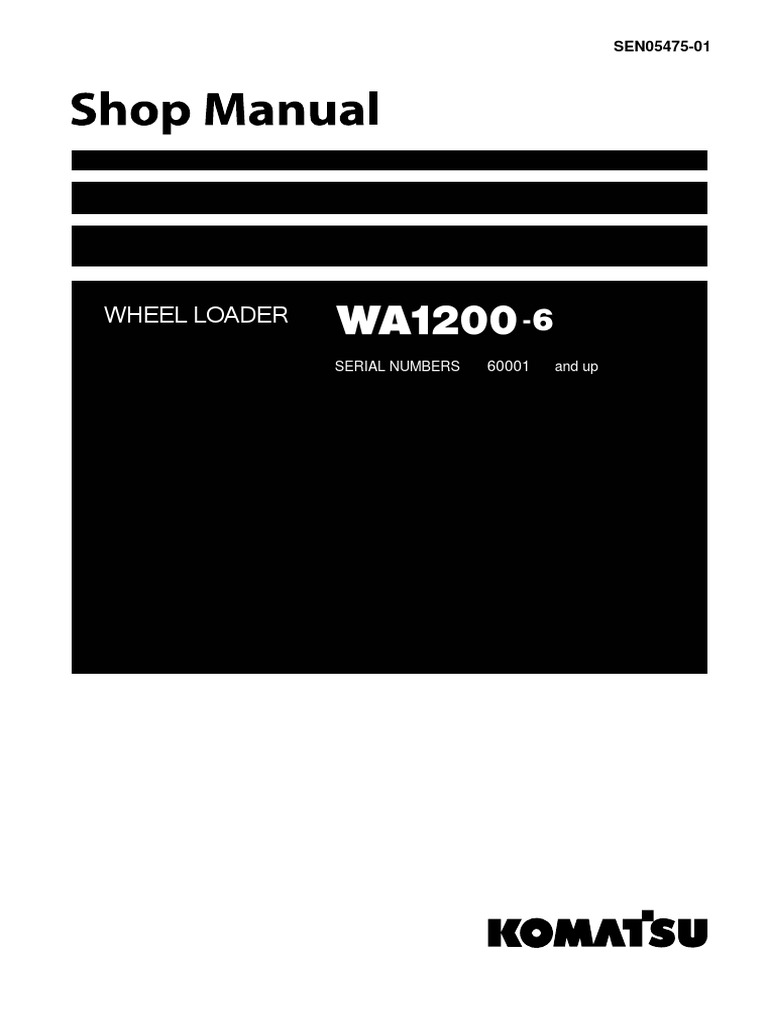 WA1200-6 Shop Manual | Valve | Transmission (Mechanics)