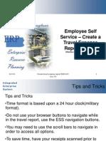 Create a Travel Expense Report Tutorial ESS ECC 6.03 Vers 3.0 110111