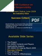 ISO 26000 (5) Success Criteria 2009-06