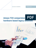Ameyo TCO Comparision With Hardware Based Legacy Solutions