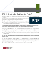 IAS 10 Events After the Reporting Period