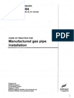 CP 51-2004 Manufactured Gas Pipe Installation