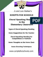 Choral Speaking Elementary