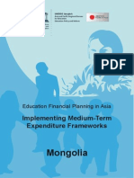 Educational Financial Plannibf in Asia Implementing Mediun-term Expediture Frameworks Mongolia