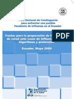 Pautas para la preparación de los servicios de salud ante casos de influenza A(H1N1) Algoritmos y Protocolos