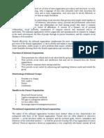 Formal & Informal Organization