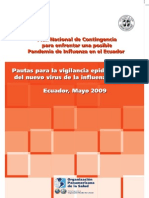 Pautas para la vigilancia epidemiológica del nuevo virus de la influenza A(H1N1)