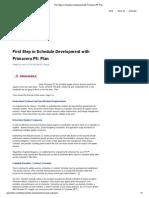 First Step in Schedule Development With Primavera P6_ Plan