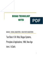 Indian Notes on Biogas Technology