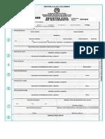 Formato Registro Civil
