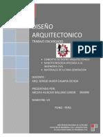 DISEÑO ARQUITECTONICO definicion