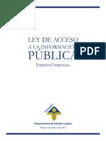 ;Ey de Acceso Ala Informacion Publica Comentada-comentada