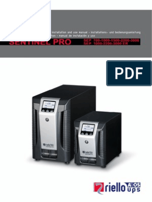 Sentinel Pro Manual | Mains Electricity | Battery (Electricity)