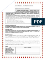 risk assessments btec l3 unit 3