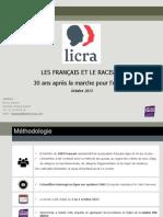 """""""Les Français et le racisme"""" (Opinion Way pour la Licra)"""
