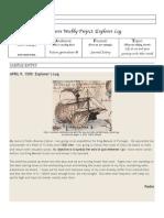 Explorer's Log Worksheet