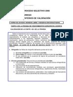 Criterios Valoracion Libre y Reserva de Discapacitados Oposiciones 2008