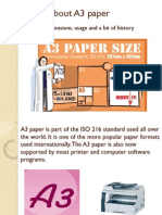 Facts About A3 Paper