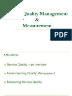 Service Quality Management & Measurement