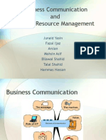 Business Communication and HR Management View
