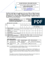 Notification Marudhara Gramin Bank Officer Scale I II III Office Assistant