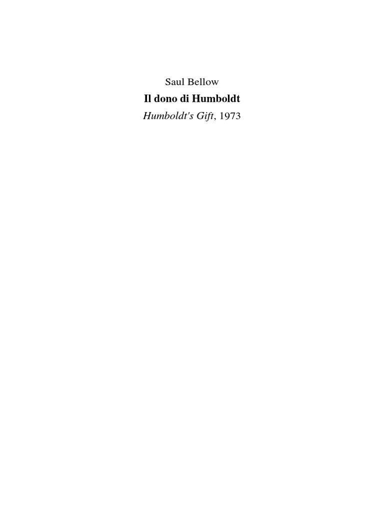 Bellow Saul - Il dono di Humboldt 07ed5edd9bd