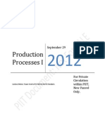 Production Processes I