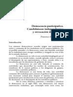 Democracia Participativa.candidaturas Independientes