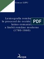 Coman Lupu, Lexicografia Romaneasca