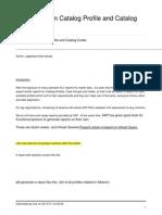 ALV Report for Catalog
