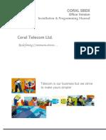 Coral Telecom (India) all EPABX Programming Manuals