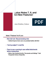 New Features in Lotus Notes 7-8.5