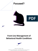 Front Line Management of Behavioral Health Conditions (1.3a