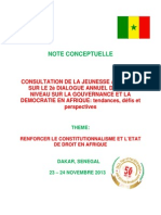 Consultation de La Jeunesse Africaine