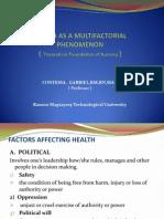 Health as a Multifactorial Phenomenon