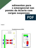 Procedimentos para atuação emergencial nas pontes da Aciaria com cargas suspensas-rev01