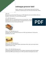 Perkembangan Prosesor Intel