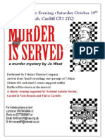 NAS Cymru Cardiff and Vale of Glamorgan branch Murder mystery night