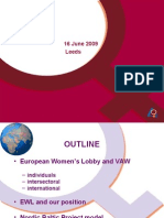 The Personal and the Universal Spectrum – the experience of the European Women's lobby and trafficking