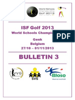 ISF Golf 2013 Bulletin 3 E