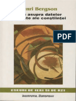 Henri Bergson-Eseu Asupra Datelor Imediate Ale Constiintei-Institutul European (1998)