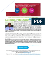 Caribbean Work Life Balance Conference & Exhibition 2014 BIO LENNOX PRESCOD