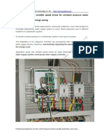 Applications of AC Variable Speed Drives for Constant Pressure Water Supply System for Energy Saving