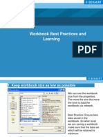 Workbook Bestpractices and Learnings